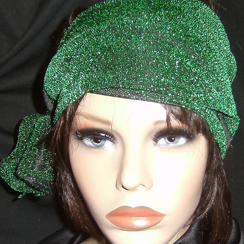 Green lamae head wrap