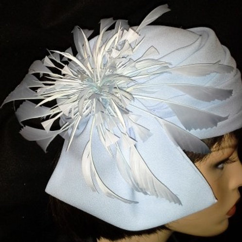 Baby blue draped crown