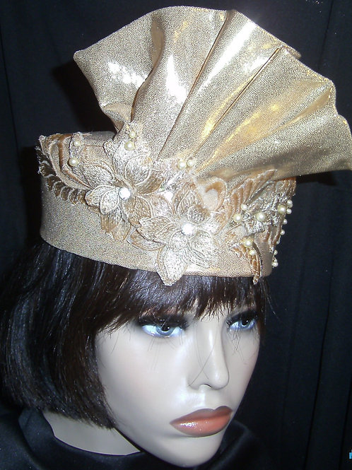 Gold lamae hat