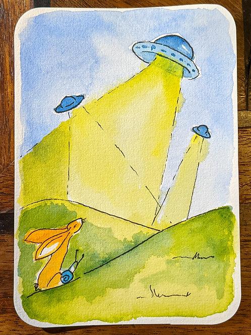 Postcard - UFO