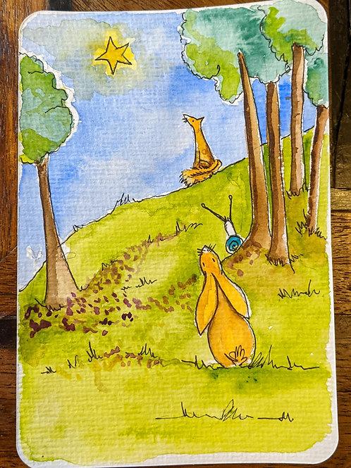 Postcard - The Fox