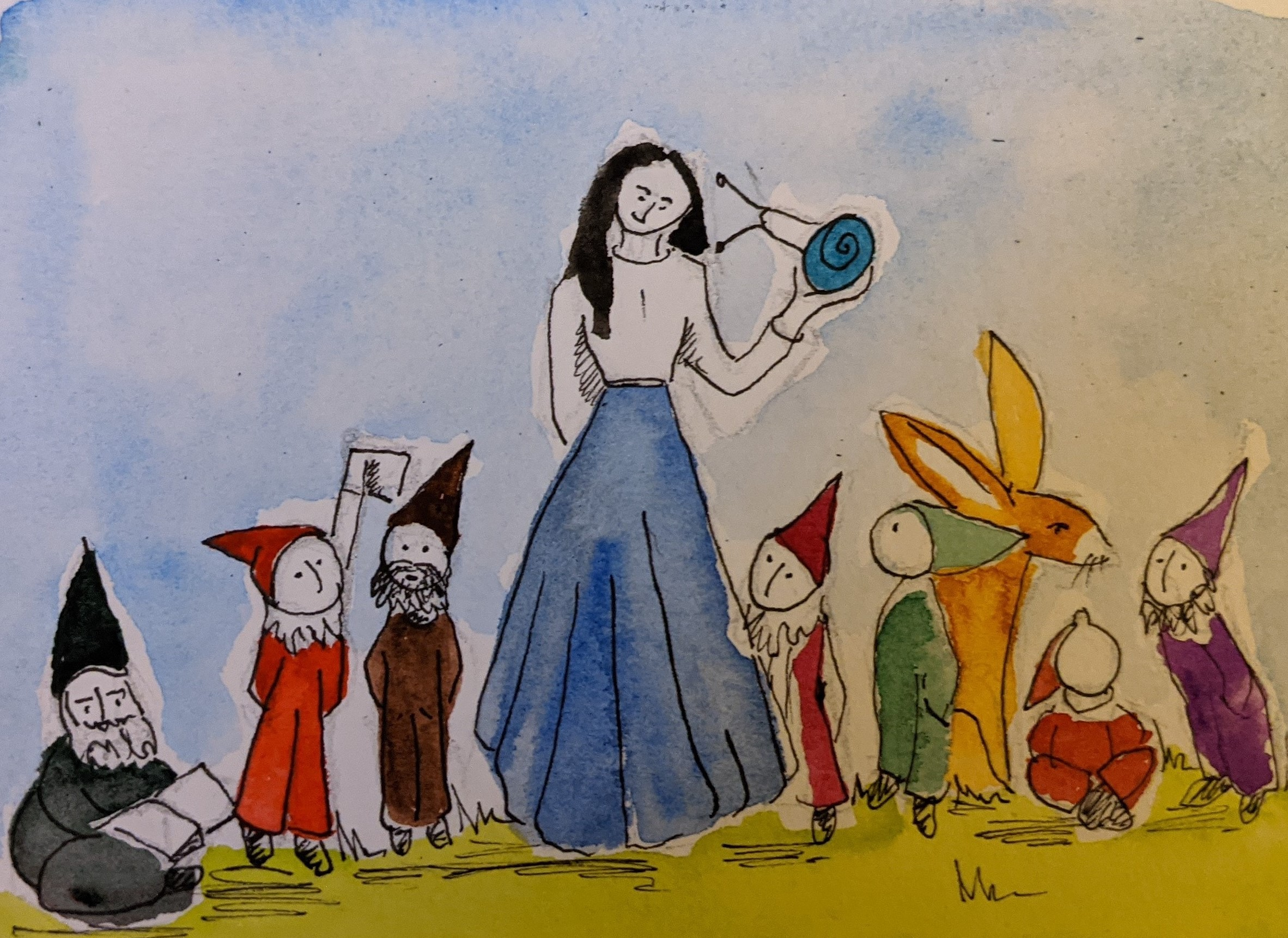 Day 39 Snow White and the Seven Dwarves.