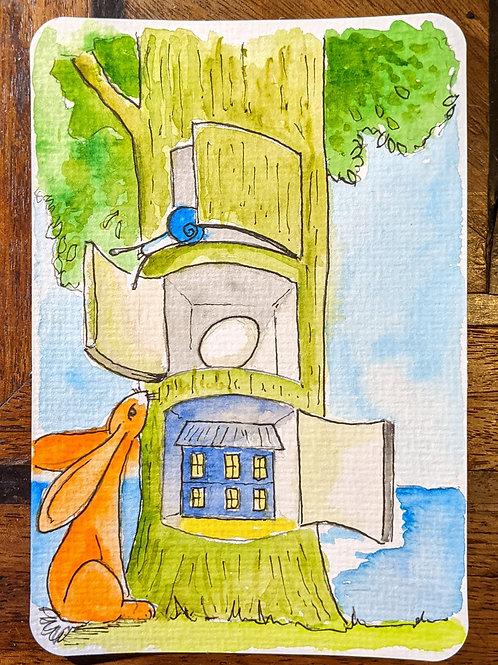 Postcard - Magritte