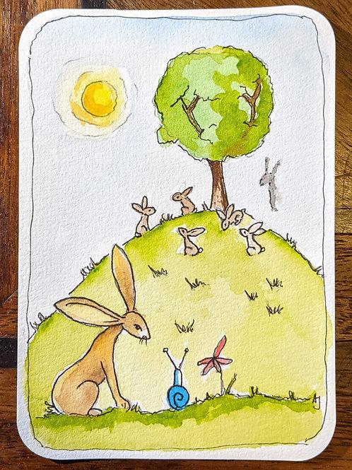 Postcard - Rabbits