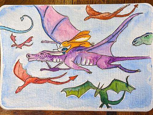 Postcard - Dragon