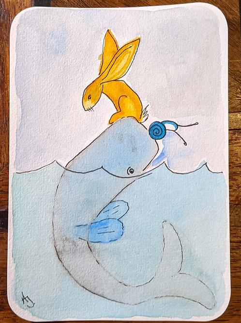 Postcard - Whale