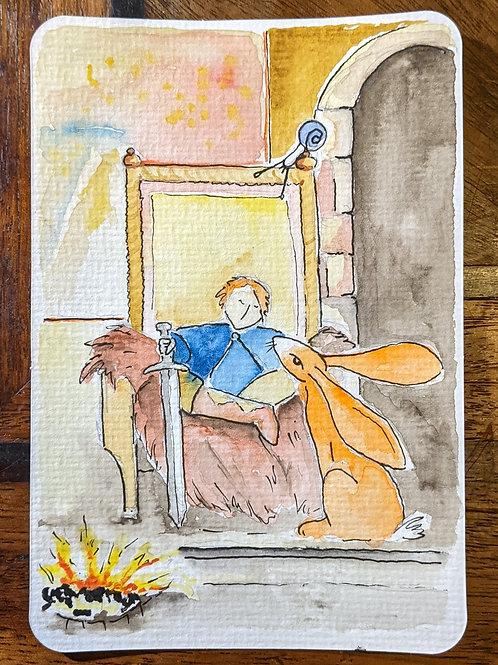 Postcard - The King