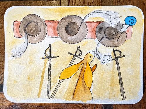 Postcard - Musketeers