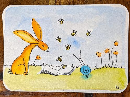 Postcard - Bees