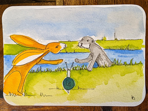 Postcard - Otter