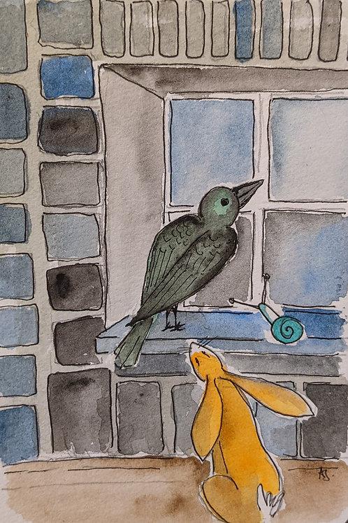 Postcards - The Raven