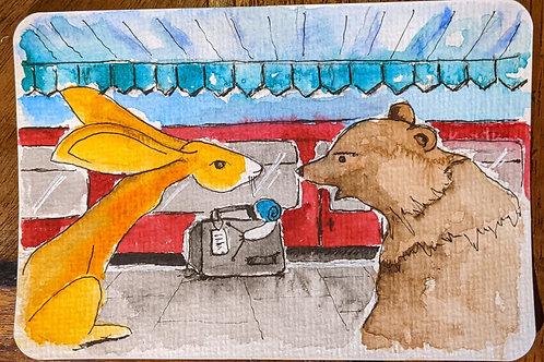 Postcard - The Bear