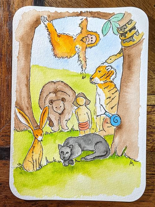 Postcard - The Jungle