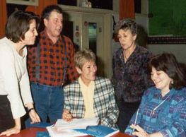 Catherine Levasseur, Patrick de Mareuil, Lucie Cortez, Monique Lamy et Valérie Seri