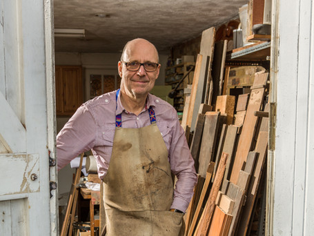 Matthew King at his workshop in Surrey. Photography by Brian Pearce