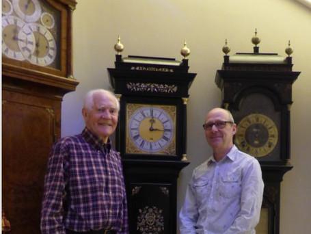 Delivering a Harrison clock replica to a happy client