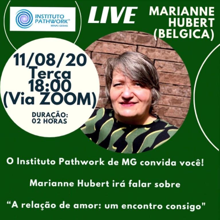 Live MARIANNE HUBERT - A Relação de Amor: um encontro consigo