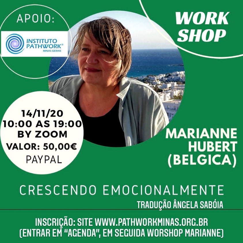 WORKSHOP - Crescendo Emocionalmente, com Marianne Hubert