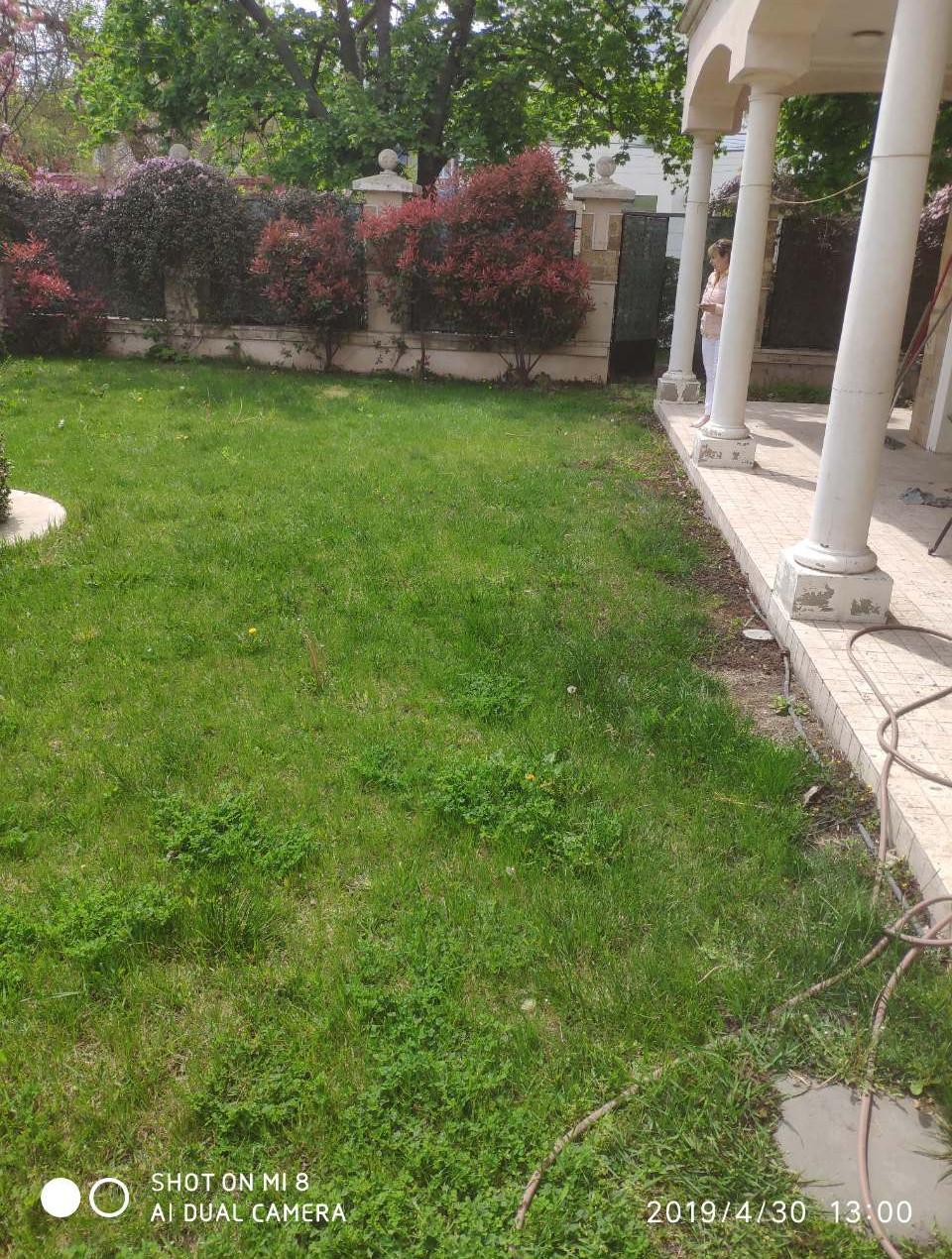 замена старого газона в Одессе