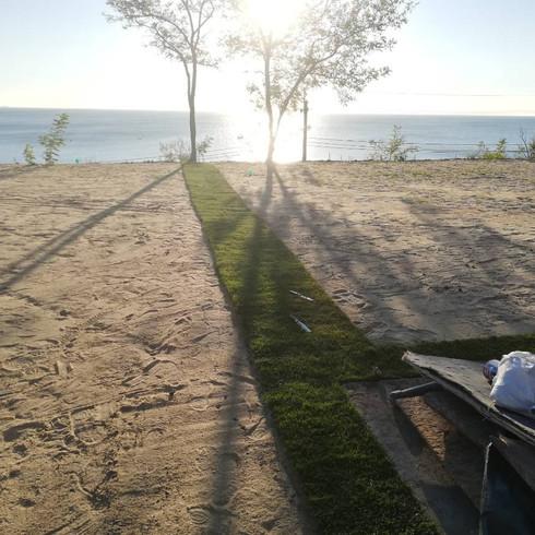 засипка піском