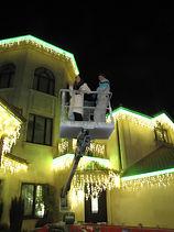 новогоднее освещение фасада