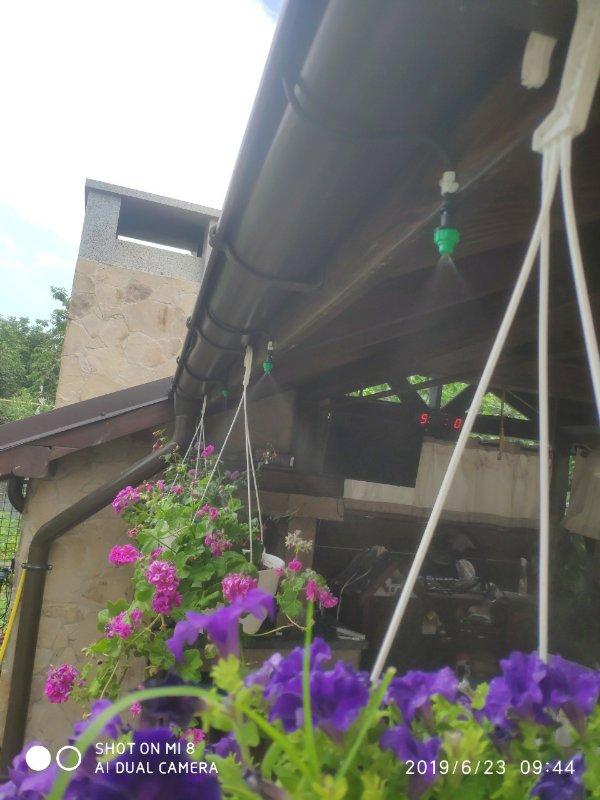 Работа системы охлаждения воздуха открытой территории в Одессе