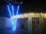 Новогоднее освещени фасада