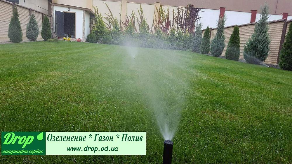 Автоматический полив газона в Совиньоне