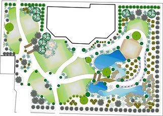 Ландшафтный проект  территории с водоемом в Одессе