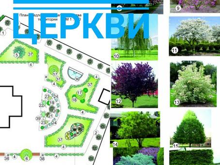 Озеленение территории храма в Черноморске