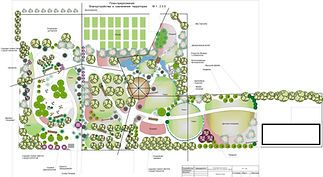 Ландшафтный проект парковой территории в Одессе