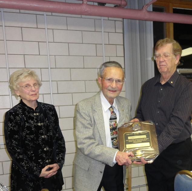 Lion Thompson Receiving Award.JPG