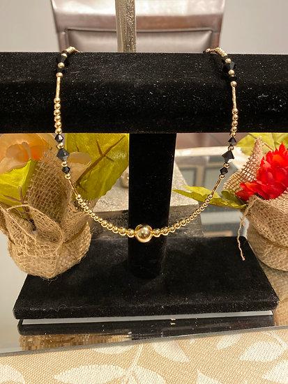 Fancy Black & Gold Necklace