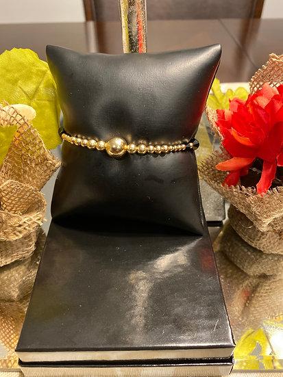 Fancy Black and Gold Bracelet