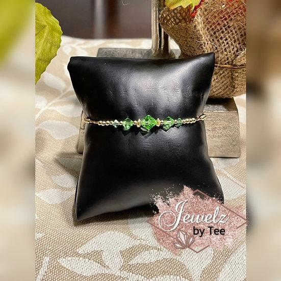 14k Gold Filled Peridot Bracelet
