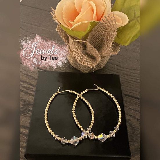 14K Gold Filled Large Hoop Earrings