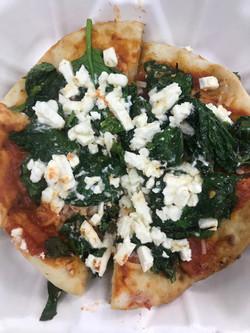 Spinach Feta Pizza Pita