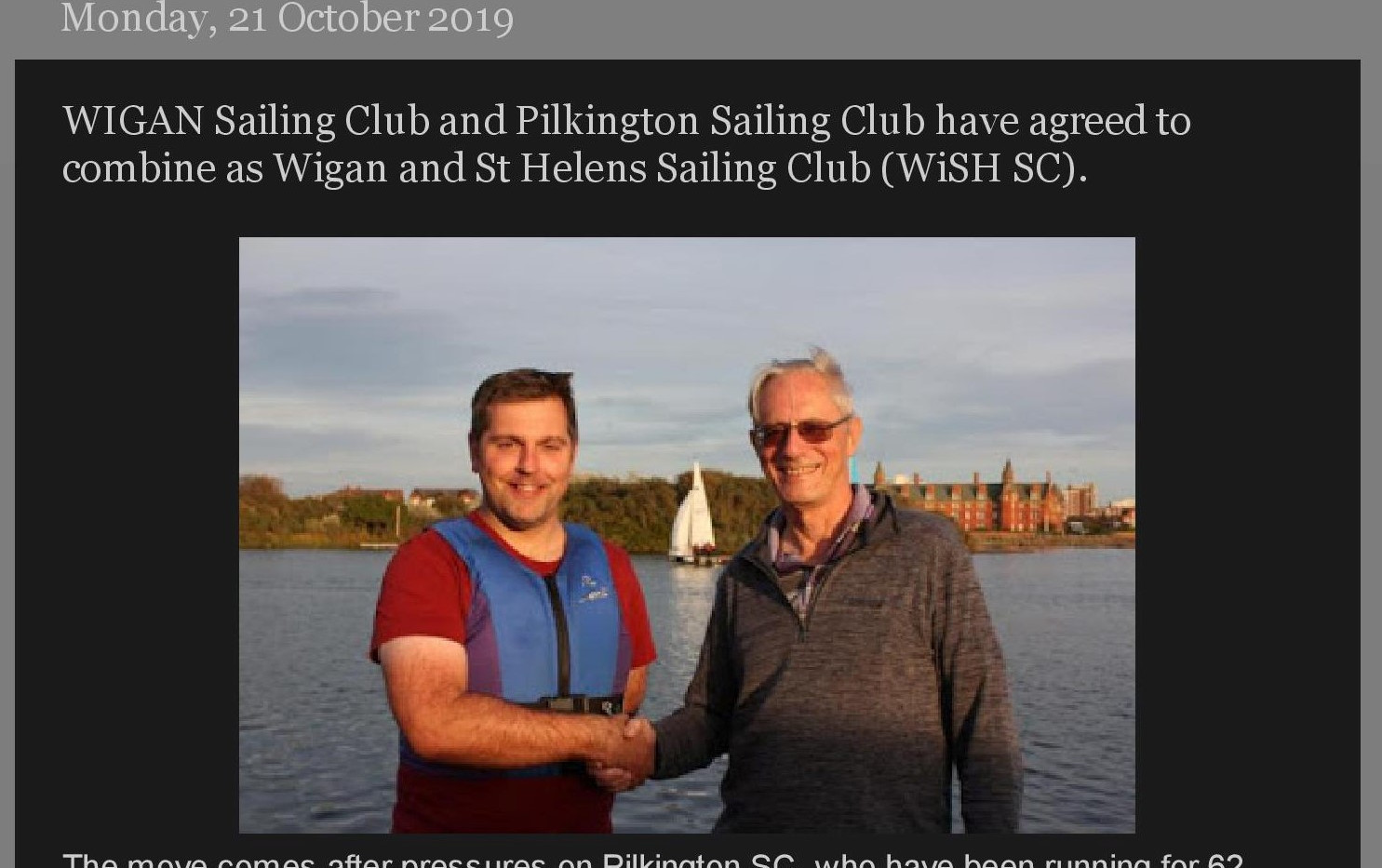 A Sailors Lot _ WIGAN Sailing Club and P