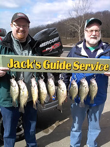 springtime crappie fishing on Lake of the Ozarks Black crappie white crappie in Brushpiles