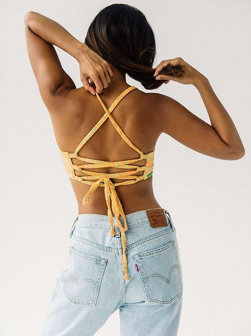 TIE BACK TOP | tropical weave