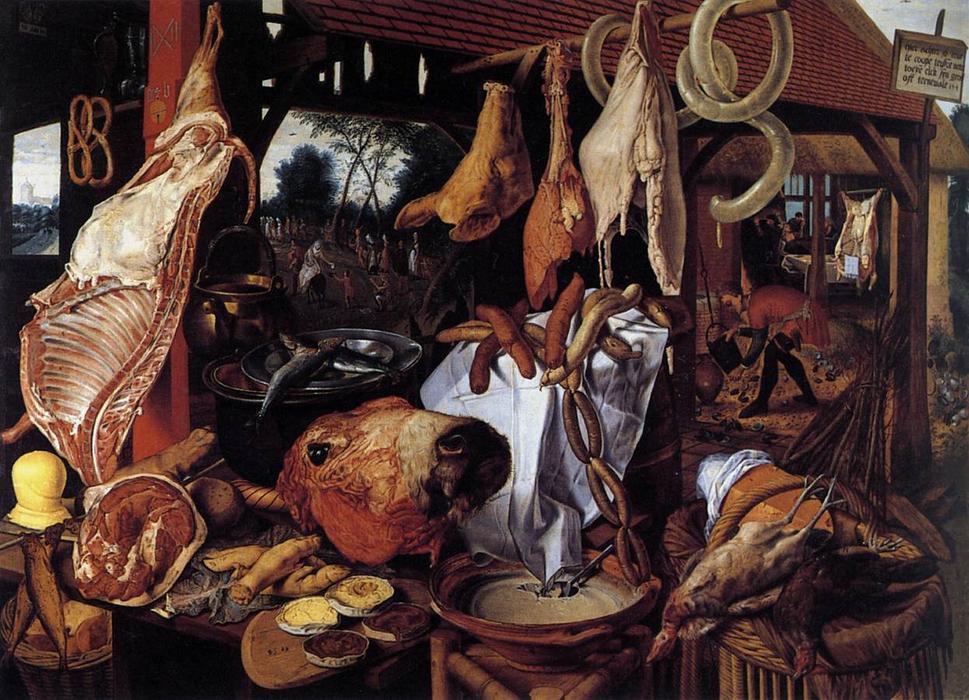 Puesto de carne por Pieter Aerteen (1551). Museo de Arte de la Universidad de Upsala