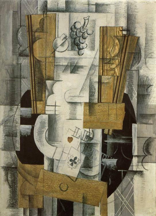 """As de trébol"" por Georges Braque. Museo Nacional de Arte Moderno, París."
