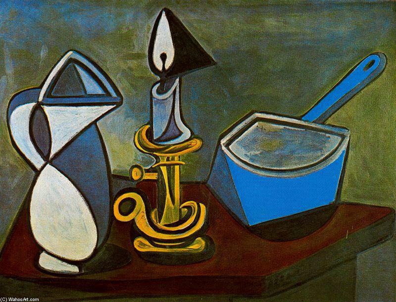 """""""Candelabro, Jarra y cacerola"""" por Picasso. Museo de Arte Moderno, París."""