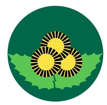 The logo of Montesinho Natural Park: urchins and leaves of chestnuts Castanea sativa