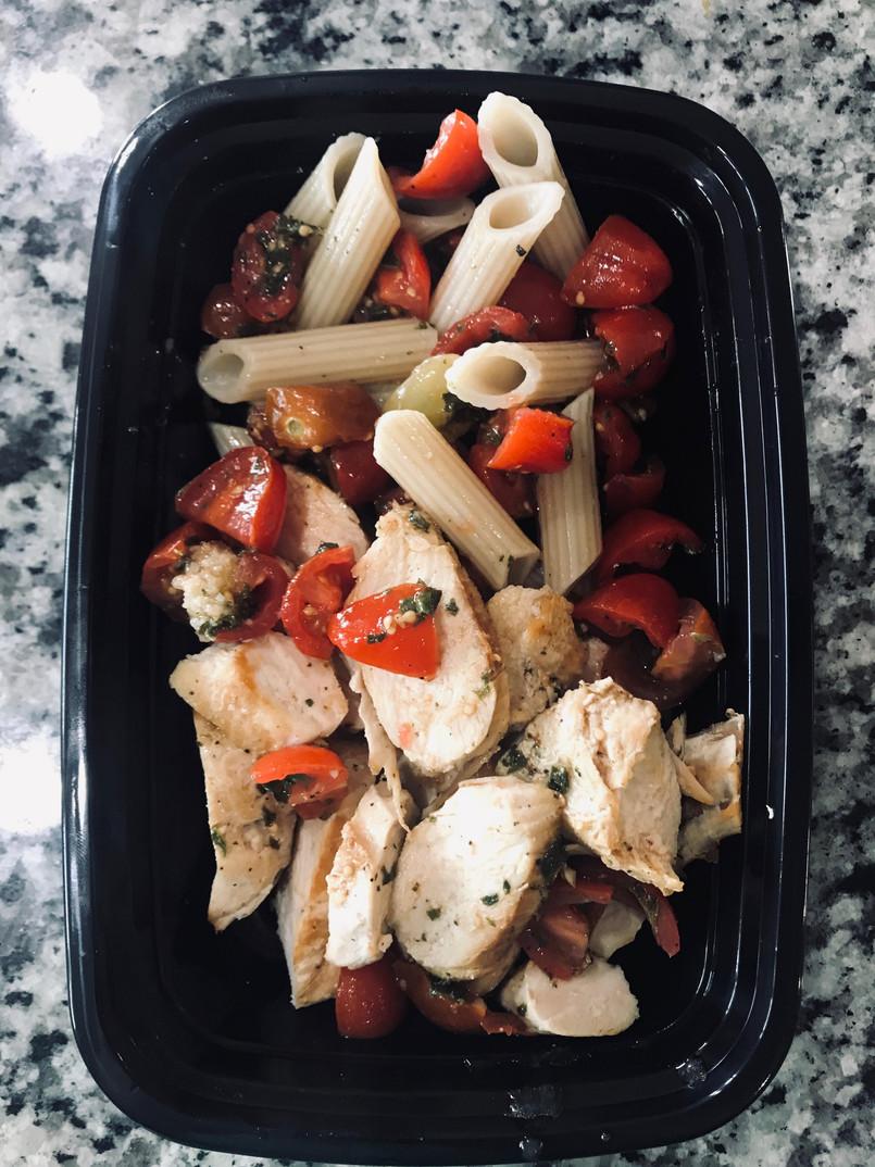Grilled Chicken with Bruschetta Brown Pa