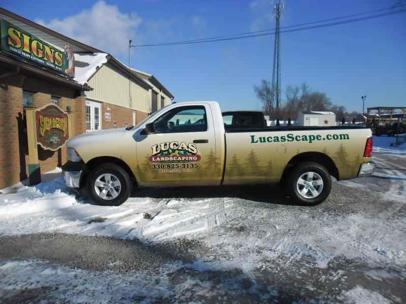 Lucas Landscaping Truck wrap by Sign Design Wooster.jpg