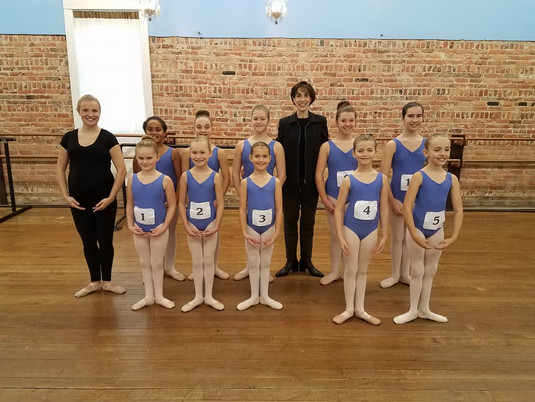 AIM Ballet ABT 1A Students at their Ballet Exam