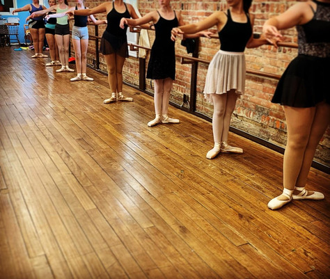 Ballet class always starts at the barre