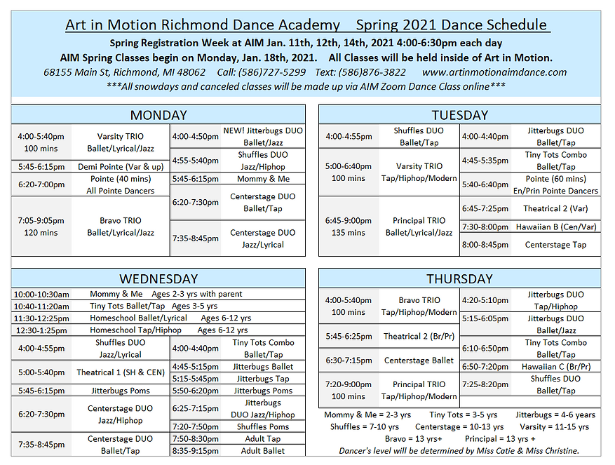 AIM Spring 2021 Dance Schedule.PNG