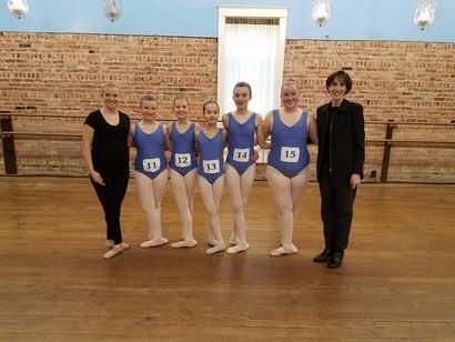 AIM Ballet ABT 2B Students at their Ballet Exam